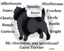 Cairn Terrier Dog Obsession?T-shirt Sale size Xl Purple with silver one only