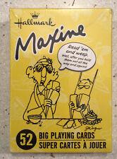 Hallmark Maxine Read 'Em And Weep 52 Big Playing Cards Humor Joke New Nib Sealed