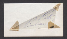 Pete Babando Vintage NHL Hockey Autograph Signed Cut  Have a Look!