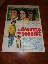 manifesto, IL RAGAZZO CHE SORRIDE AL BANO ROCKY ROBERTS MARTINKOVA MUSICA 1969