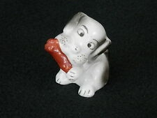 "Vintage Dog w/Bone Small 3"" Figurine Made in Japan – Cute!"
