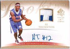 AL THORNTON 2007-08 SP Authentic Prime Jersey Prime Patch Auto Rookie Card /599