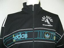Vintage 90' Ancienne VESTE ADIDAS SOC SO CHAMBERY RUGBY Jacket XV Fédéral1 Top14