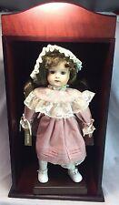 Camelot Katherine Porcelain Doll w/Dark Wood Wooden Display Shelf Decoration EUC