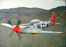 90cmx120cm OIL PAINTING ON CANVAS OF NORTH AMERICAN TF-51D MUSTANG TEMPUS FUGIT