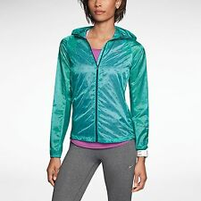 NIKE VAPOR CYCLONE WOMENS S TRACK PACKABLE RUNNING JACKET 588657 383 GREEN $135