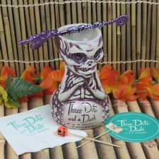Three Dots And A Dash Purple Fijian Mermaid Tiki Mug Swizzle Napkin Coaster Pics