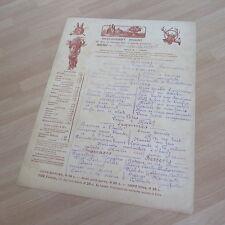 MENU ORIGINAL DU 14 AVRIL ( 1911 ) RESTAURANT PIGEAT PARIS