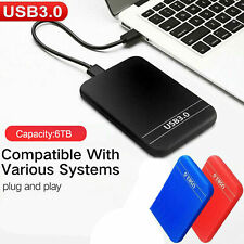 2.5 '' 6 To Disque dur externe USB 3.0 Data Transfer HDD Box Case Red