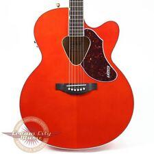 Gretsch G5022CE Jumbo Rancher Acoustic Electric Orange Fishman Pickup Demo