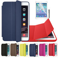 For iPad mini 1 2 3 Retina Genuine Leather Smart Case Cover + Film Pen Set Tide
