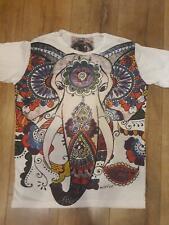 men t shirt PEACE short sleeve Ganesha Hippie om YOGA COTTON Hobo boho M Mirror