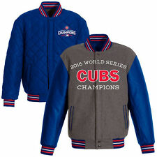 Chicago Cubs JH Design 2016 World Series Champions Commemorative Wool REV Jacket