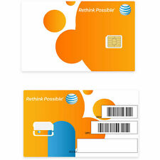 At&T Nano Sim Card 4G Lte 4488A, Gsm Prepaid or Contract