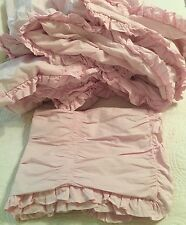 Simply Shabby Chic Ruched Pink COMFORTER  set TWIN - 2 pc  Bedding READ