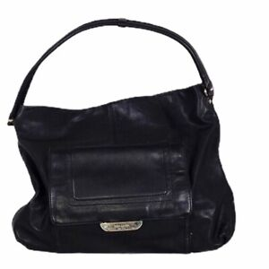 KATE SPADE  BLACK SOFT LEATHER HOBO LARGE HANDBAG PURSE SHOULDER BAG