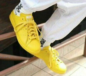 New Adidas Women's trainers/ STAN SMITH MULE/yellow leather trainers/Sport shoes