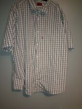 Levis Red Tab Mens Checkered Casual Button Up Shirt XXL White/Brown/Pink