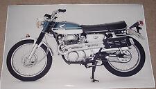 1969 HONDA CL350 VINTAGE MOTORCYCLE POSTER 24x36