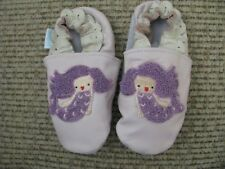 Jack & Lily Lavender Soft Leather Soft Soles Shoes Baby Size 18 to 24 Months