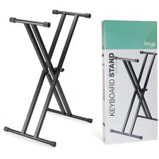 Stagg KXS-A6 Height Adjustable Double Braced X Frame Folding Keyboard Stand