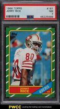 1986 Topps Football Jerry Rice ROOKIE RC #161 PSA 7 NRMT