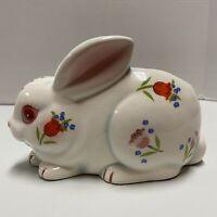 Vintage Bunny Rabbit Planter Pot Container Garden Flower Pot Ceramic Easter