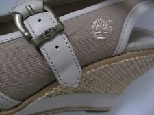 Timberland Earthkeepers  beige wedge canvas & leather sandals UK 6 EU 39 RRP £90