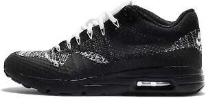 Original women's Nike Air Max 1 Flyknit Black White Trainers 859517 001