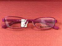 Juicy Couture Eyeglass Frame JU907 01Z2 Metallic PinkMatte Purple47/15 125mmREAL