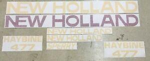 New Holland 477 Haybine decals