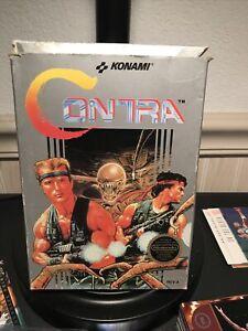 Contra Nintendo Entertainment System NES w/ Box & Manual
