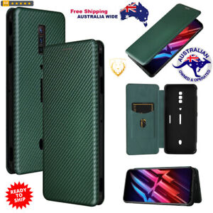 Carbon Fiber Texture Magnetic Horizontal Flip TPU + Leather Case for Red Magic