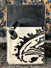 RALPH LAUREN SEVILLE PAISLEY STANDARD SHAM(1) ~ BLACK/OFF WHITE