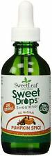 Sweet Drops Liquid Stevia, SweetLeaf, 2 oz Pumpkin Spice 1 pack