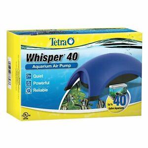 Tetra Whisper Aquarium Air Pump Minimal Noise Maximum Air Flow 40 Gallons