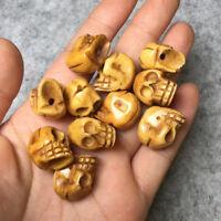 VINTAGE YAK BONE SKULL Prayer Bead ! Tibetan Buddhist Mala DIY PENDANT BY PIECE
