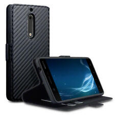 Terrapin bajo perfil tarjeta Billetera De pie Estuche de Cuero PU para Nokia 5 Negro de carbono