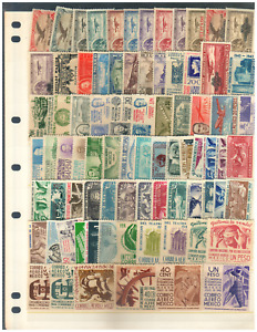 1130 MEXICO Collection 80 Dif. Old Air Mail Stamps MNH 1922-1959
