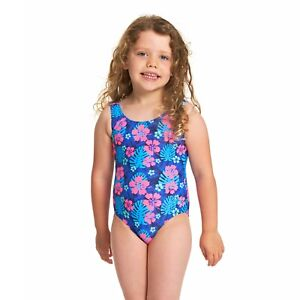 Zoggs Girls Kona Scoopback Swimsuit Ages 3 - 6 Years