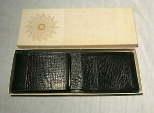 Vintage Lord Buxton Black Leather Convertible Wallet Full Grain Rio Pigskin