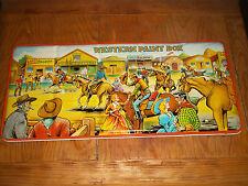 VINTAGE 1960S ORIGINAL LARGE!  WESTERN TIN PAINT BOX SET  England UNUSED!