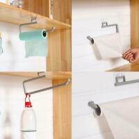 Home Roll Holder Paper Toilet Towel Under Shelf Cabinet Storage Wall Rack Hanger