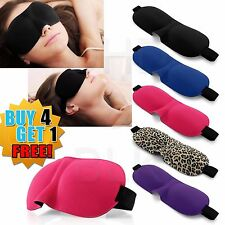 Viajes 3d Máscara De Ojo Dormir Acolchada Suave Sombra cubierta Descanso Relax Dormir los Ojos Vendados