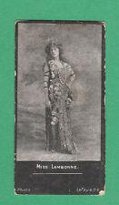 A. BAKER & CO. LTD. - VERY RARE ACTRESSES ' HAGG ' CARD - MISS  LAMBORNE  - 1900
