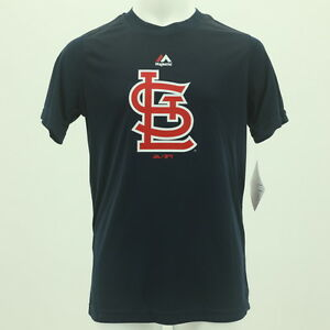 St. Louis Cardinals Youth Size Official Majestic MLB Athletic T-Shirt New W Tags