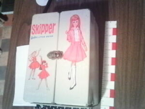 skipper doll case double doll case & storage used nice