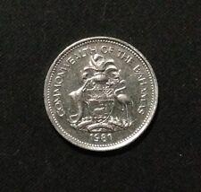 1981 Bahamas 25 Cents, circulated