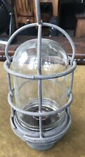 Vintage Russell & Stoll Co Lamp w/ Cage