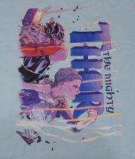 Mighty Lady Thor- Helmed Heroine Apparel T-Shirt - Blue Medium